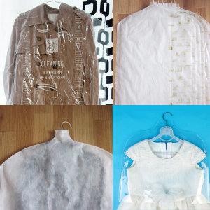 투명 비닐옷커버 100매/부직포/PVC/세탁소