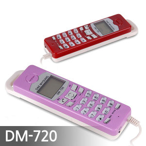 벽걸이 유선 전화기 DM-720 발신자 표시 집/사무용