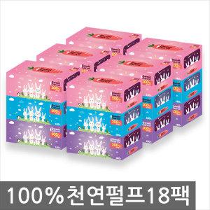 특가행사 100%천연펄프 180매18팩 (총3240매) /각티슈
