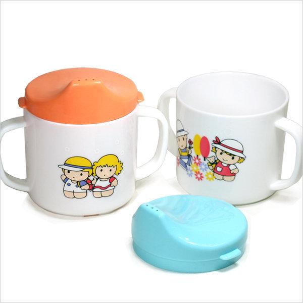 유아용양손잡이컵/ 어린이뚜껑컵 물컵 우유컵 어린이