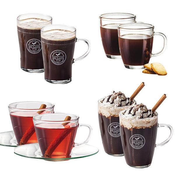 1+1 오븐글라스 커피머그세트 360mlx4P / 커피잔 물컵