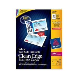 Avery Printable Two-Side Clean-Edge Business Ca...