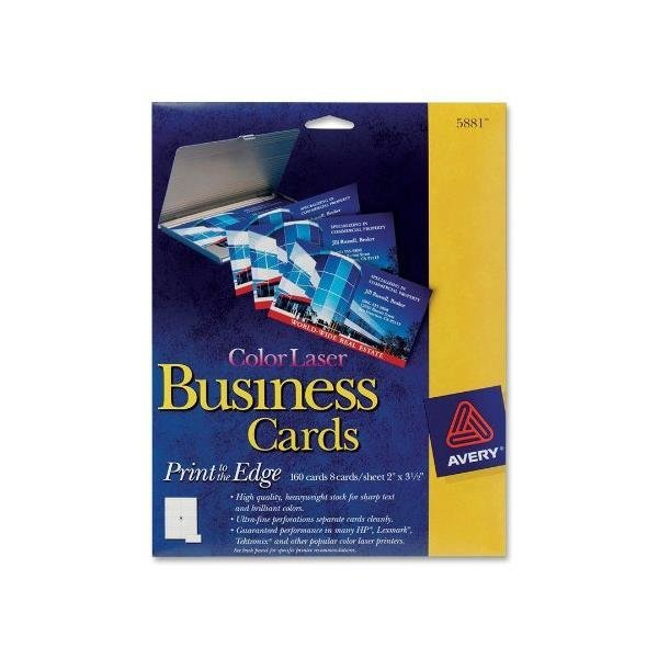 Avery 5881 Color laser perforated white 2x3-1/2...