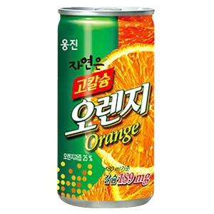 고칼슘 오렌지 180ml(30캔)/ 음료수 캔음료