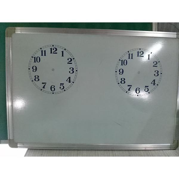 자석식 화이트보드 양면 시계공부 / 93 x 63