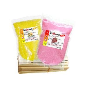 천연 솜사탕원료 C셋트-(천연 설탕2k+스틱200개)
