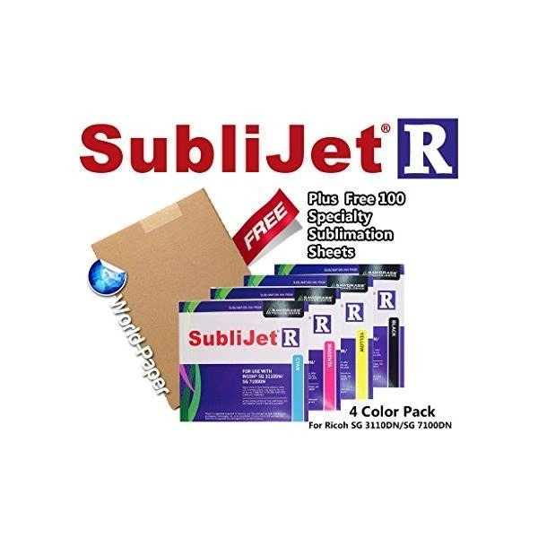 Set (Cmyk) Sublijet-r Ink Cartridges for Ricoh ...