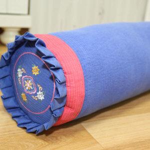 피그먼트 프릴 원형 베개 커버 줄누비 순면 국내 제작