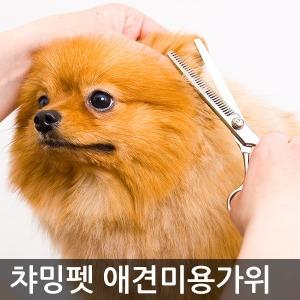 챠밍펫 애견미용가위 강아지 숱미용가위 빗 용품 세트