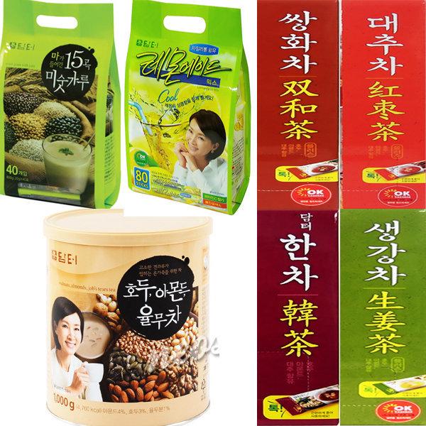 담터모음/호두율무차/쌍화차/생강차/대추차/한차/커피