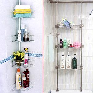 국산 스텐 욕실선반/사각 코너선반/욕실수납장 욕실장