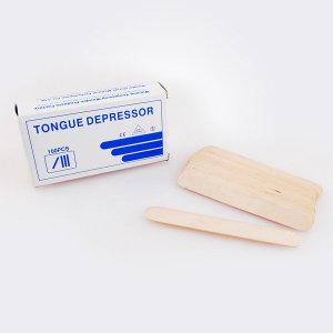 설압자 1박스(100개입)/혀누르개/구강검진/나무설압자