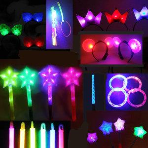 LED반지 LED 야광팔찌 야광봉 별봉 LED머리띠