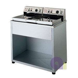 전기튀김기/스탠드형/DS-200B/도장2구/업소용튀김기