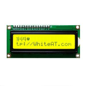 LCD1602 16x2-Yellowgreen(16핀헤더 포함) 납땜옵션