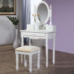 원목도장 화장대세트 시리즈(화장대+거울+의자)루시아