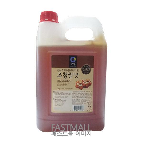[청정원] 청정원 조청 쌀엿 5kg (쌀100% 조청쌀엿/쌀물엿)