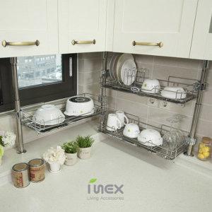 아이디어 주방정리용품/식기건조대 주방수납 주방선반