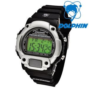 돌핀 200M 방수 전자손목시계 567-28C