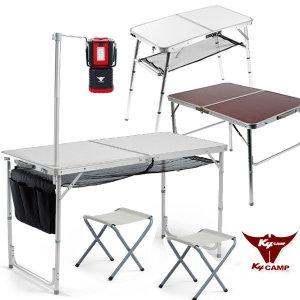 폴딩60~120 캠핑테이블+의자/접이식/피크닉/야외/매대