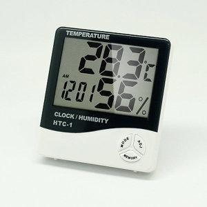 직수입 대형LCD 화면 온습도계 HTC-1  온도계+습도계