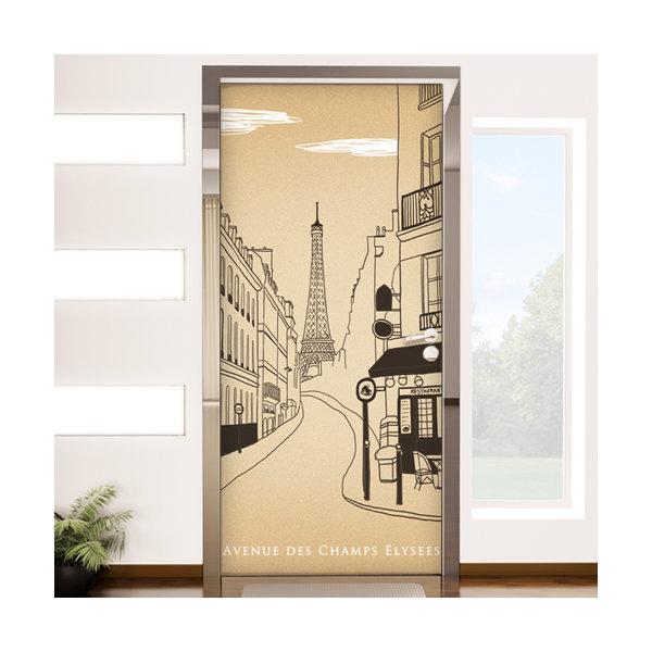 io057-에펠탑이보이는파리의카페거리_현관문방문시트