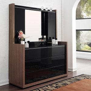 보니크 블랙우드 화장대(6단서랍+수납거울)