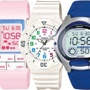 카시오정품 아동 어린이 남자학생 방수 전자손목시계