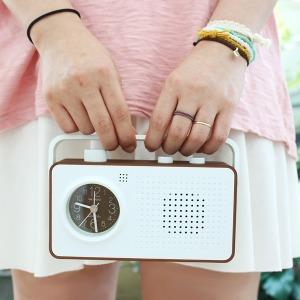 레트로 라디오 알람시계/캠핑용야외용라디오복고풍