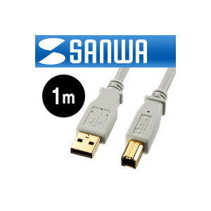 SANWA USB2.0 AM-BM 케이블 1m KU20-1HK