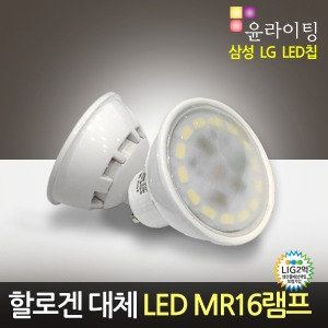 5.5W LED할로겐 MR16램프 AC직결형 2.5인치매입등GU10