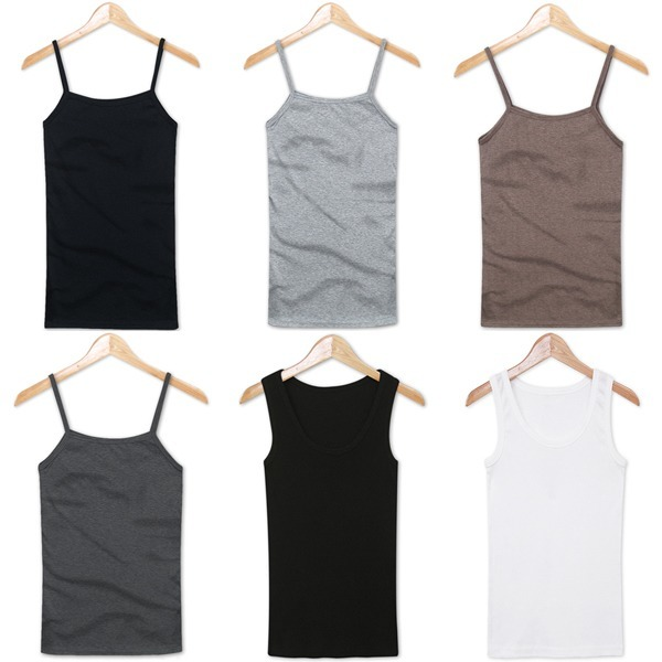 여성 나시 민소매 티셔츠 나시티 끈나시 롱나시 속옷