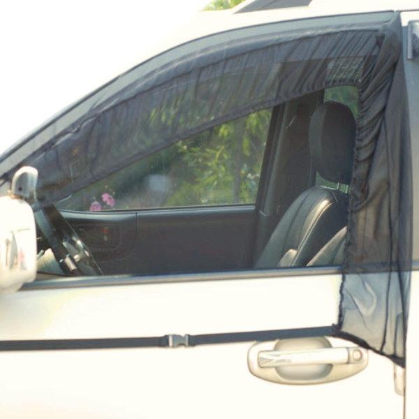 차량용 모기장 운전석+조수석 자동차 안전 방충망YKM