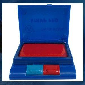 C502/스탬프/2종/빨강/파랑/스탬프잉크/스탬프세트