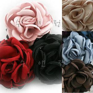 160-4501 블룸 고급 코사지 꽃 브로치 머리핀 머리끈