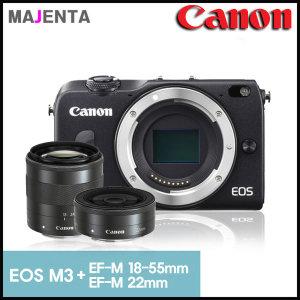 (캐논코리아) 캐논 EOS M3 + 18-55mm + 22mm 더블렌즈