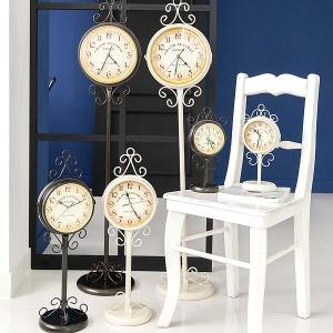 프로방스 양면시계 스탠드시계 벽시계 엔틱시계
