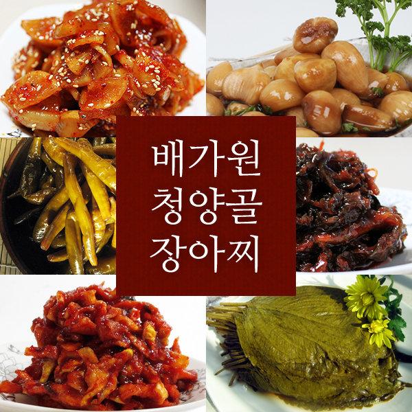반찬/장아찌/마늘/양파/마늘쫑/명이/청양고추/깻잎