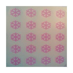 시온스티커(눈꽃송이-바탕(투명))-저온-(은폐용)-분홍