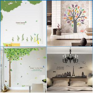 예쁜 포인트벽지 스티커 그래픽 창문 시트지 DIY 거실