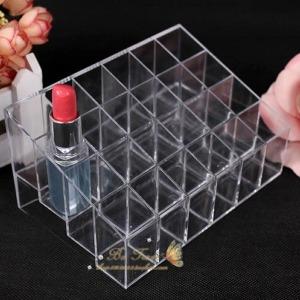 24 투명 마스카라 보관함-화장품 가방 케이스 파우치