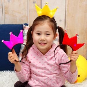 큐빅왕관불빛머리띠/머리띠/크리스마스/이벤트/공연