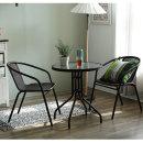 원형테이블+의자2개/부부테이블/티테이블