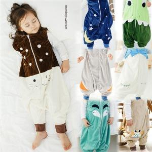 슬립색 수면 조끼 유아 아기 신생아 실내복  잠옷