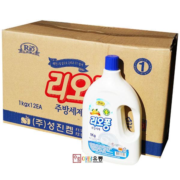 성진켐/리오퐁 주방세제 1kg x12개 박스