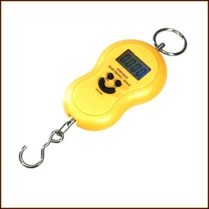 라이트닝 ES-5 휴대용 디지털 손저울 옐로/온도계기능