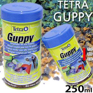 테트라 구피 사료 250ml/열대어 관상어 먹이 플레이크