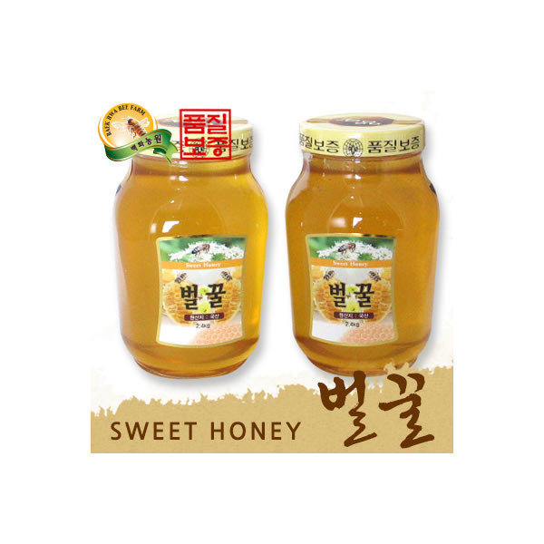 (현대Hmall) 백화농원  꿀3代 국내산 벌꿀 (2.4kg+2.4kg)