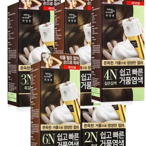 미쟝센 쉽고빠른 거품염색/새치염색약/5종택1최근제조