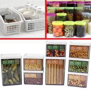 냉장고정리용기/정리함 반찬통 주방수납 양념통 선반